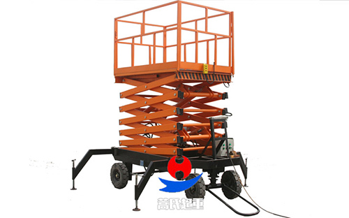 四轮牵引式、移动液压升降平台